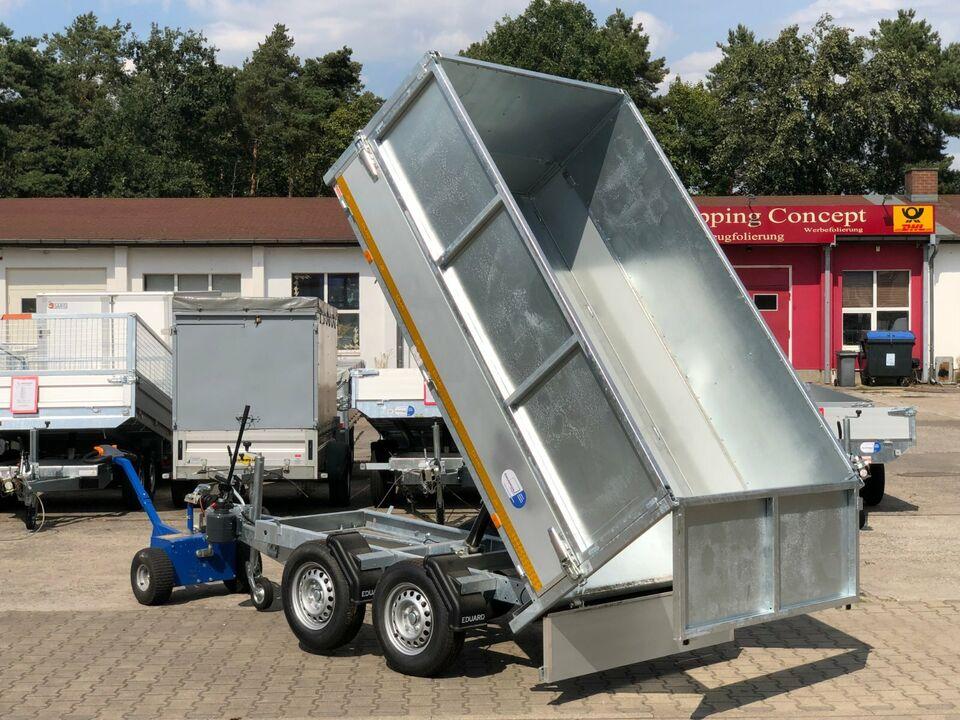 ⭐ Anhänger Eduard Kipper 2700 kg 256x150x30+60cm Laubgitter 72 in Schöneiche bei Berlin