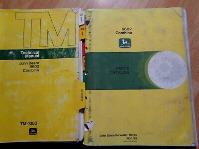 John Deere 6602 Combine Technical Service Repair Manual Tm1080 Parts Catalog