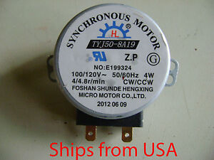 New Microwave Oven Tyj50 8a19 8 Turntable Turn Table Synchronous Motor