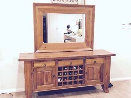 Buffet Wine Rack And Mirror Middleton Grange Liverpool Area Preview