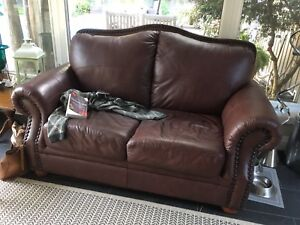 Brown Leather loveseat, excellent condition!