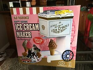 Soft Serve Home Ice Cream Maker & Serving Dishes