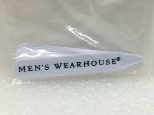 "Lot of 12 Plastic Collar Stays Men's Wearhouse 2 1/2"" 2.5"" Long"