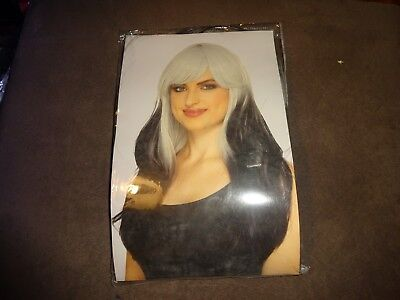Claire's Womens Halloween Long Gray Black  Wig W/ Bangs Cosplay Costumes ](Womens Black Halloween Costumes)