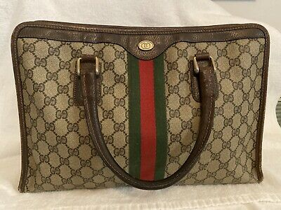 Authentic Gucci RARE Vintage Bag Medium Supreme 1980s With Serial Number