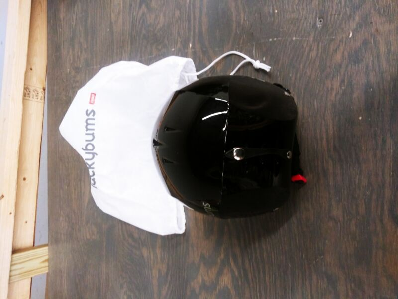 Lucky Bums Snow Sport Helmet, Fleece Liner - Metallic Black - X-Large - Used - A