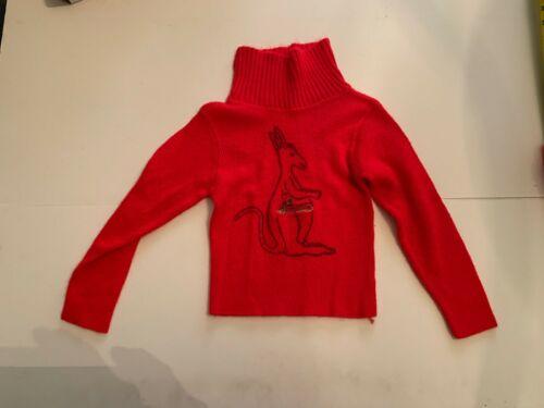 Vintage Kangaroo Red Girl Sweater Size 4