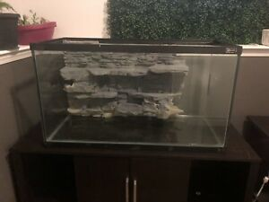 "36"" x 20"" aquarium w/ custom background"