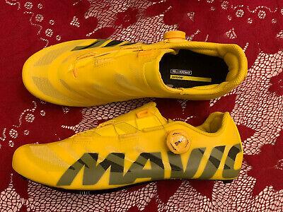 Mavic Cosmic SL Ultimate Carbon Road Bike Shoes EU 44 US Men 10 Yellow Race BOA