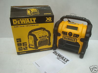 BRAND NEW DEWALT DCR020 10.8V 18V XR FM DIGITAL DAB RADIO 240V
