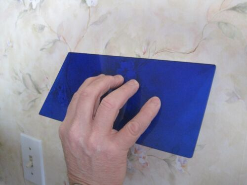 TWO WALLPAPER SMOOTHER SWEEP TOOLS & Trim Guides Paperhanging tool, Blue