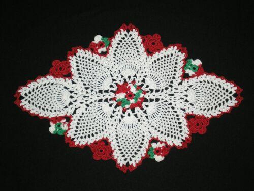 New Christmas Handmade Doily Crocheted Flowers