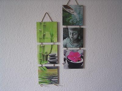 """Wandhänger """"Asia"""", Wandbilder, 2-er Set, Feng Shui Dekoration, Buddha"""