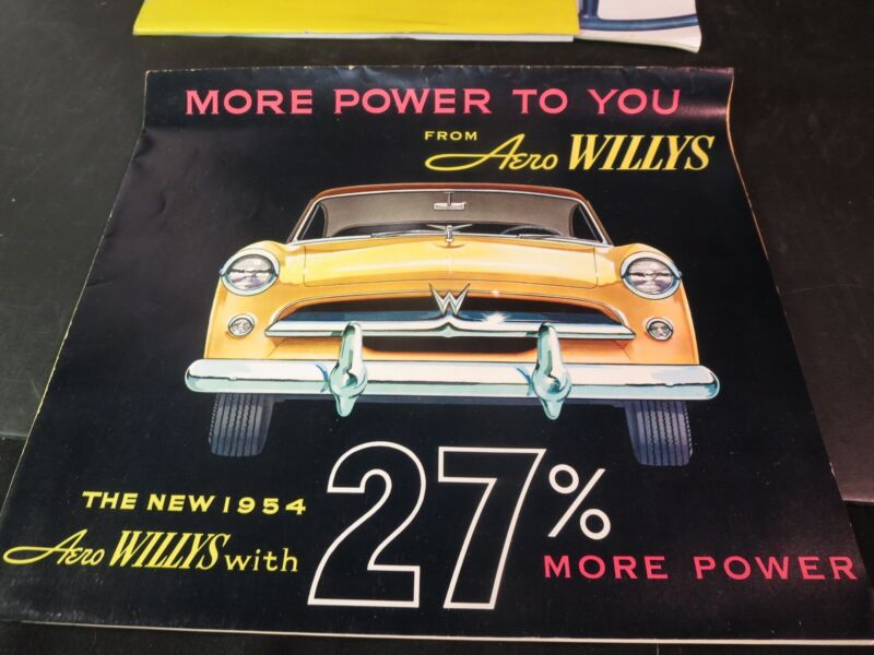 1954 Aero Willys Automobile Brochure/ Poster Great Vintage Auto