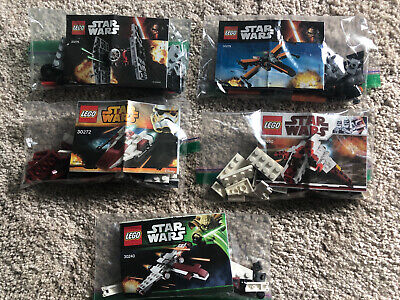 Star Wars LEGO Sets 30240 30050 30272 30278 30276 COMPLETE w/Minifigures