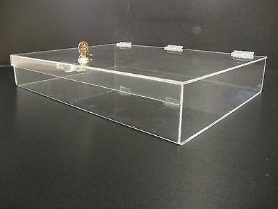 Acrylic Countertop Display Case 19 X 13 X 3 Locking Security Show Case Safe B
