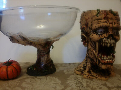 Zombie Chip Dip Bowl Halloween Party Prop For Serving Food Walking Dead Party](Zombie Food For Halloween Party)