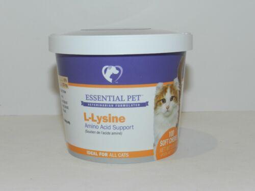 L-Lysine Amino Acid Support All Cats Essential Pet 21st Century 100 soft Chews
