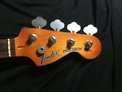 Loaded 70's Style 2018  Heavy Relic Fender Squire P-Bass Neck, 70's Logo