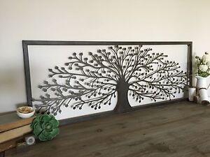 Metal Wall Panel 1.1Mtr Tree Of Life Screen/Laser Cut Art/indoor Or Outdoor