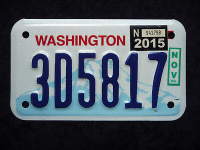 WASHINGTON ★ USA Motorrad Kennzeichen ★ Original ★ Sticker 2015 ★ Top! 3D5817