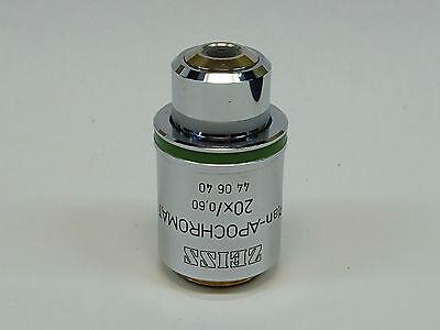 Zeiss Plan-apochromat 20x0.6 0.17 Microscope Objective Pn 440640