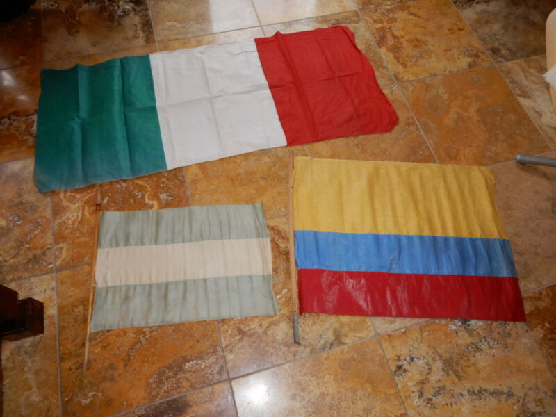3 ORIGINAL PAN AMERICAN EXPOSITION FLAGS SIGNED BY DIRECTOR GENERAL BUCHANAN