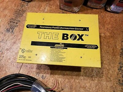 Temporary Power Distribution Box With Cable 50 Amp 125250 Volts 60hz 4-wire