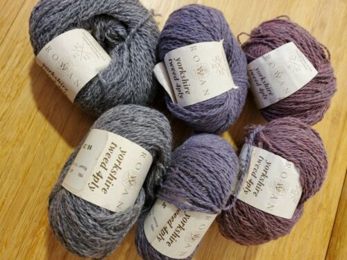 6 Balls of ROWAN Yorkshire Tweed 4Ply 100% Wool Lot - Complementary Colors