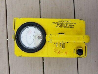 Geiger Counter Vintage Victoreen Instrument Radiological Survey Meter Cdv-720 3a