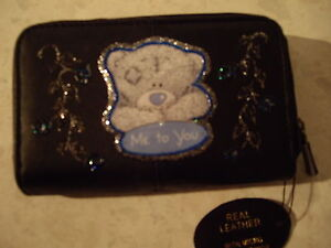 NEW   BLACK LEATHER ME TO YOU   PURSE/WALLET