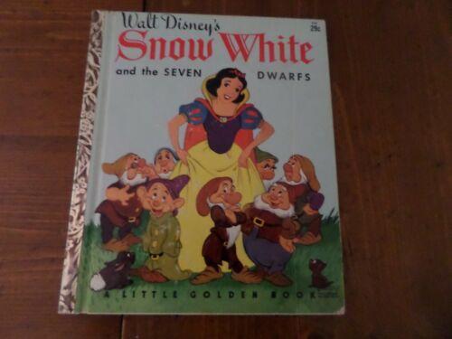 Snow White And The Seven Dwarfs, A Little Golden Book,1948(VINTAGE DISNEY)