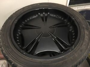 "22"" powder coated rims"