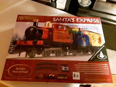 HORNBY SANTA'S EXPRESS PR-OWNED TRAIN & TRACK, BAD TRANSFORMER $39.00