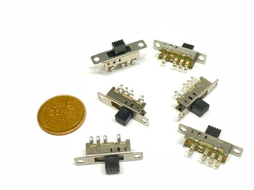 6 pieces 2p3t 5mm Slide Switch  ss-23e04  8Pin On Off PCB on-on-on  E25