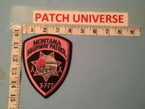 MONTANA HIGHWAY PATROL PINK  SHOULDER  PATCH  J024