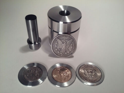 """1.5"""" Coin Ring Center Punch kit for Morgan, 50 cent, Gold dollar and Quarter!!"""