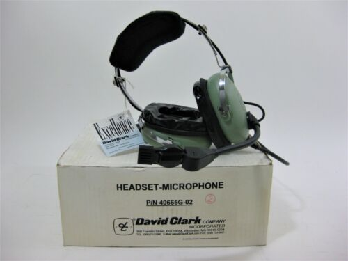 NEW David Clark Aviation Headset Special Military Edition P/N-40665G-02 In Box