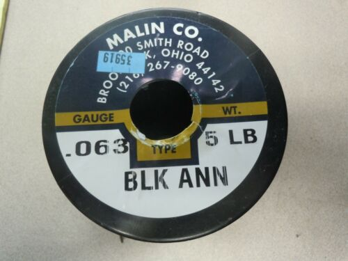 """Baling Wire, 16 ga., Black Annealed Wire, 0.0625"""" Diameter, 480 ft. Length"""