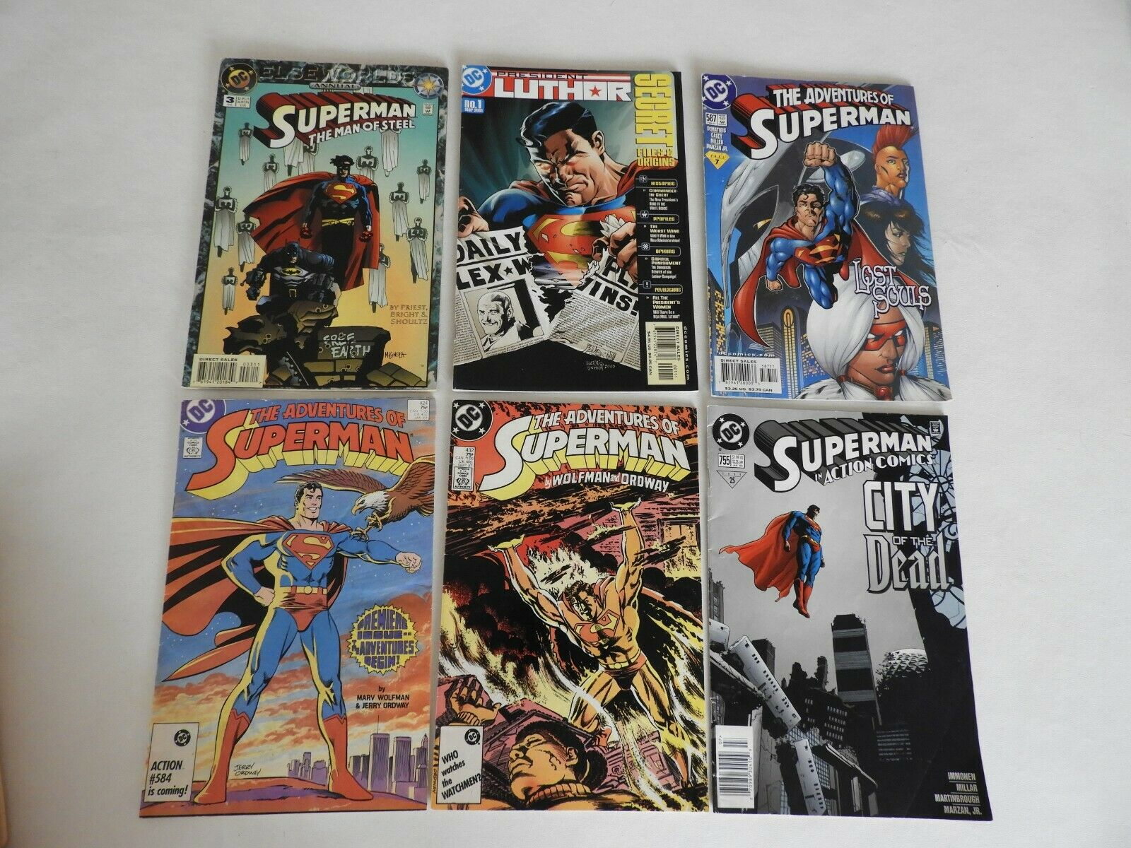 Lot Of 6 DC Adventure Of Superman Comics Annual 3, President Luthor 432, 584  - $10.00