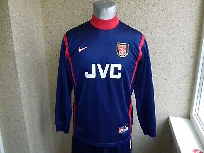 sports shoes 54624 2ab2c Arsenal LONDON Goalkeeper 1997-1999 football shirt S JERSEY NIKE RARE  VINTAGE