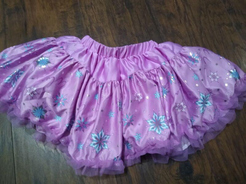 Disney Frozen Toddler Skirt Tutu 2t toddler 2 dress play purple elsa snowflake