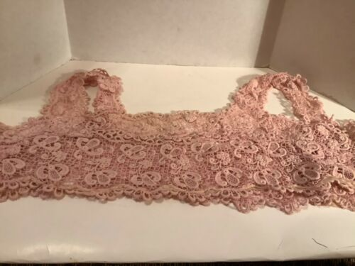 Vintage pink lace camisole 17'W