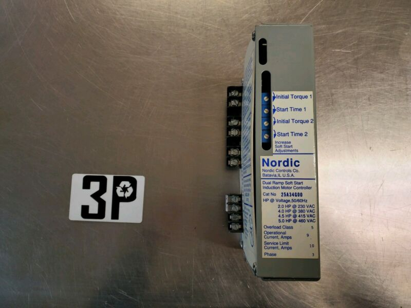 Nordic Controls Dual Ramp Soft Start Induction Motor Controller 25A34G00