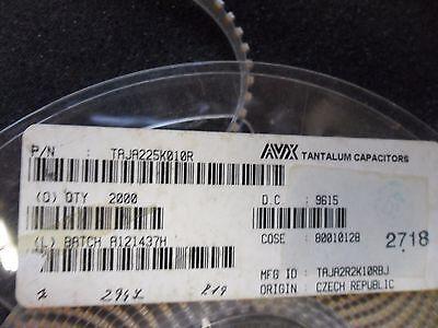 100 Per Lot Capacitor Tantalum 2.2uf 10v 10 Smd A-case