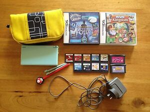 Nintendo DS Lite Limited Ed. Ice Blue + games, charger, case Clapham Mitcham Area Preview