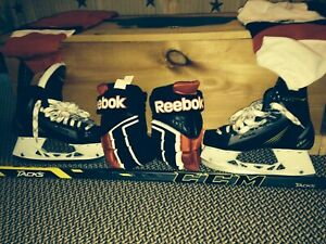 Good condition hockey gear+bag!