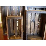Rustic Wood Crates New Hand Crafted Set of 4