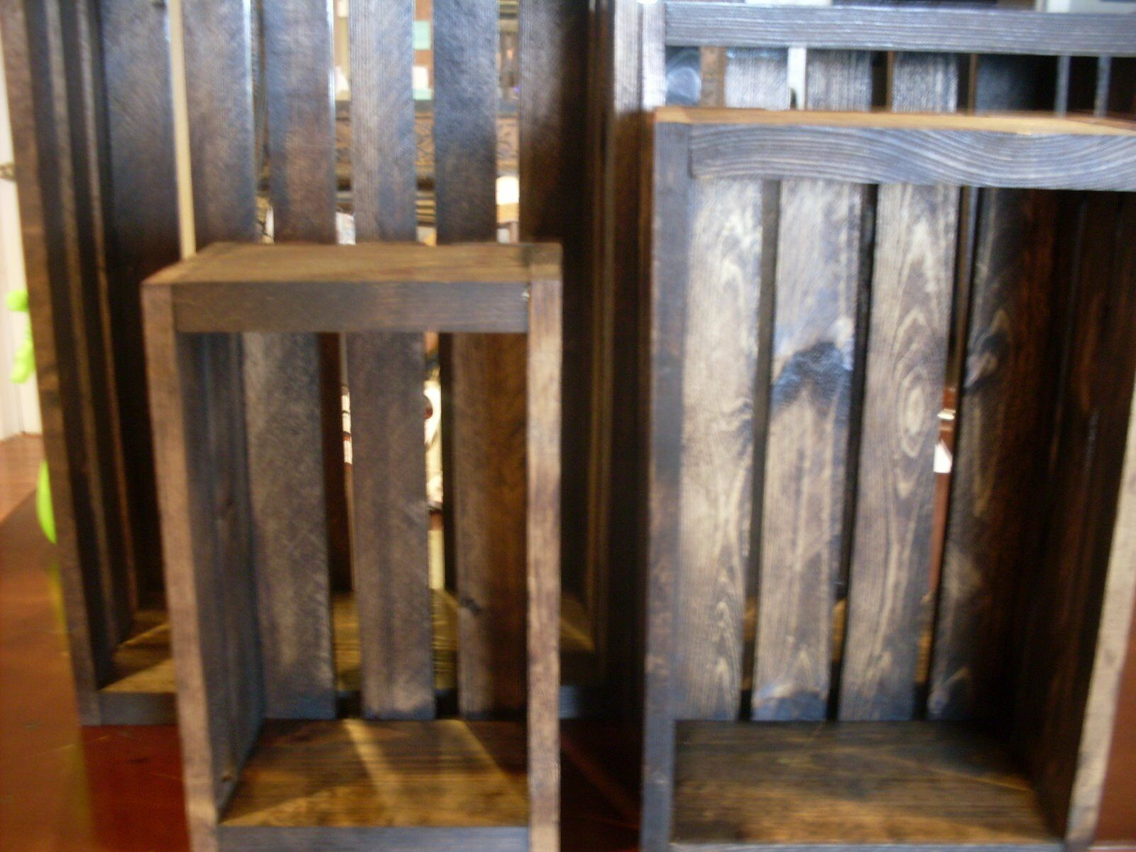 Купить Rustic Wood Crates New Hand Crafted Set of 4