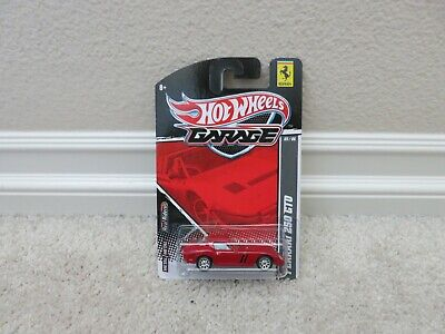 BRAND NEW 2011 HOT WHEELS GARAGE RED FERRARI 250 GTO REAL RIDERS RARE SEE PICS